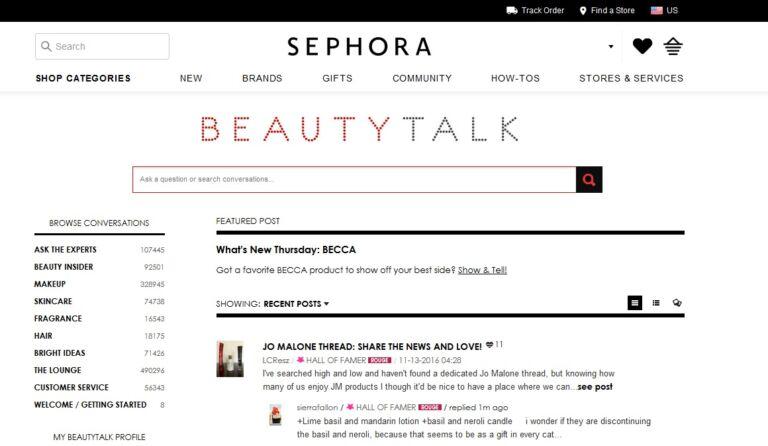 Sephora influence campaign