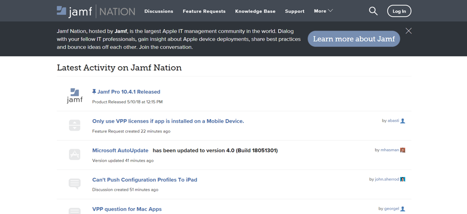 jamf nation customer experience example