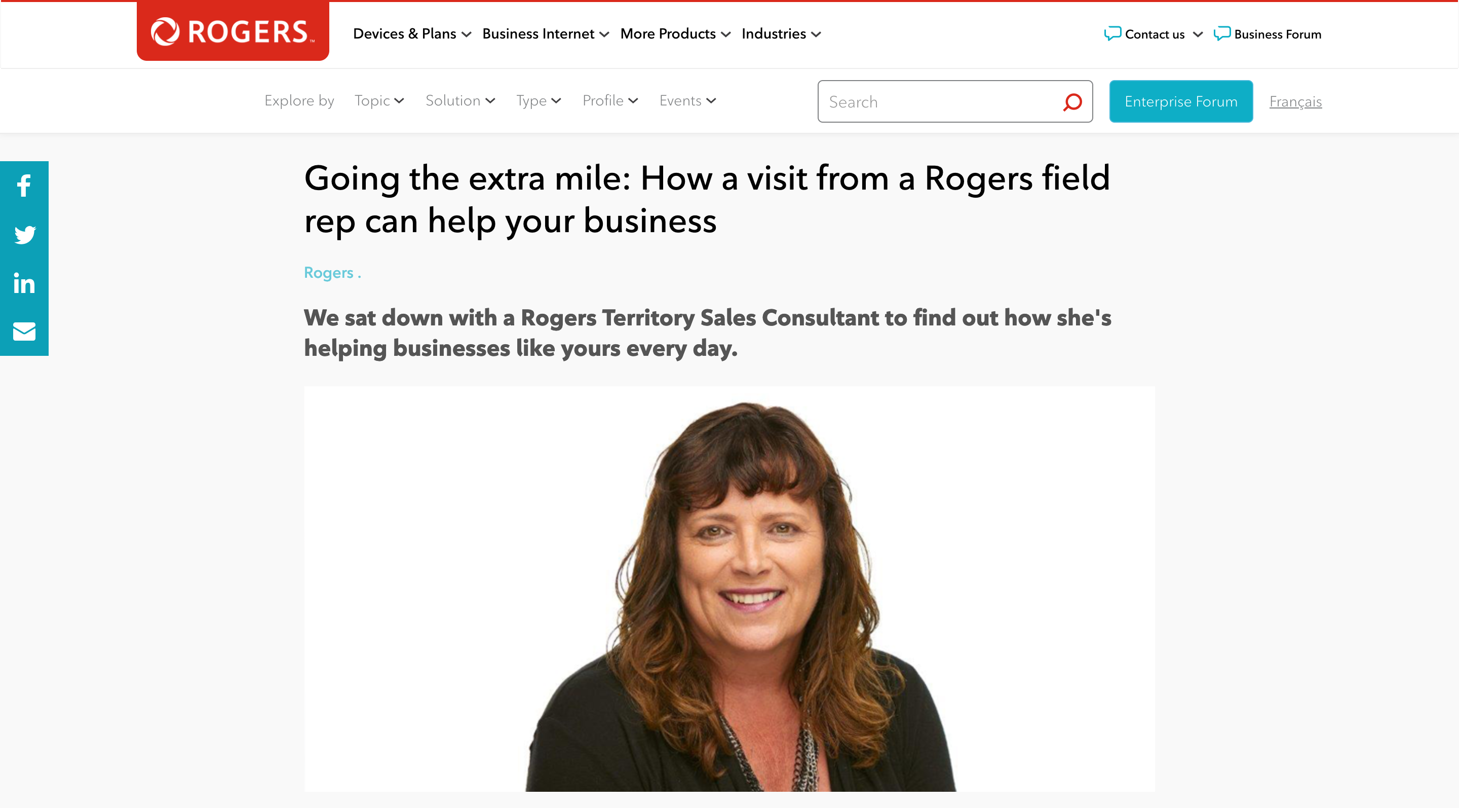 Rogers blogging strategy
