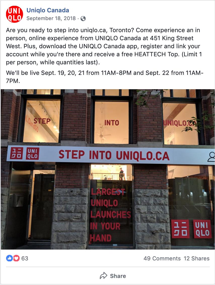 Uniqlo Canada and customer experience