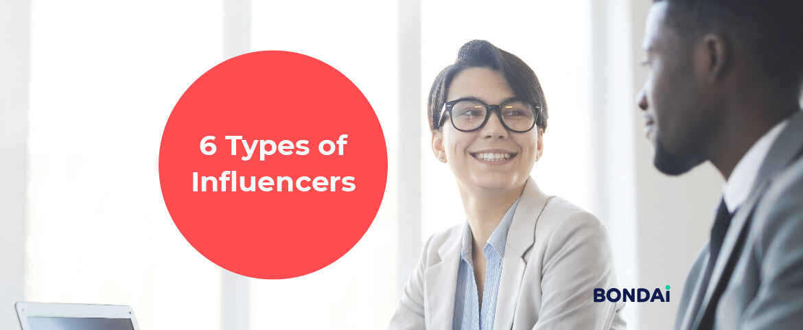 6 Types of Influencers Featured Image