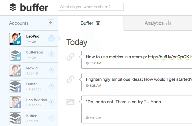 buffer influence marketing